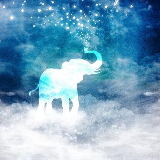 Spirit Elephant Spouting Stars