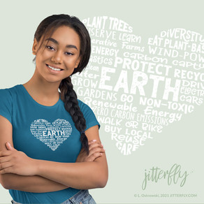 Heart Earth Word Cloud