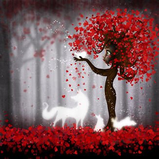 Magical Heart Tree Forest for Spirit Animals