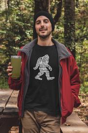 Word Cloud Bigfoot Shirt