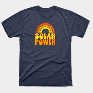 Retro Rainbow Solar Power t-shirt