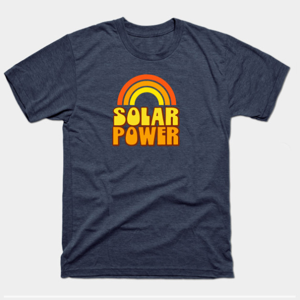 Retro Rainbow Solar Power t-shirt