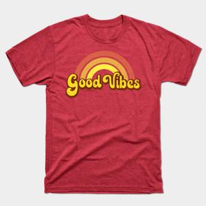 Good Vibes Retro Rainbow Shirts & Gifts