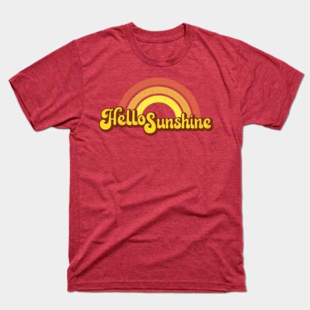 Hello Sunshine Retro Rainbow Shirts & Gifts