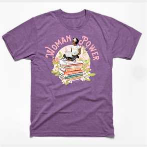 Woman Power, Black Woman on Books t-shirt