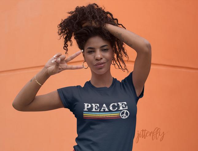 Peace Retro Rainbow 70s Stripes