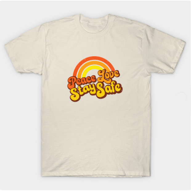 Peace Love Stay Safe Retro Shirts & Gifts