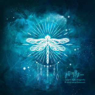 Cosmic Boho Dragonfly