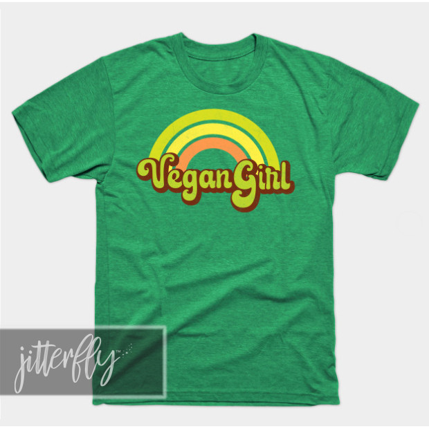 Retro Vegan Girl Shirts & Gifts