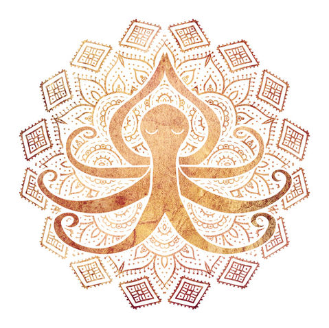 Zen Octopus Meditating