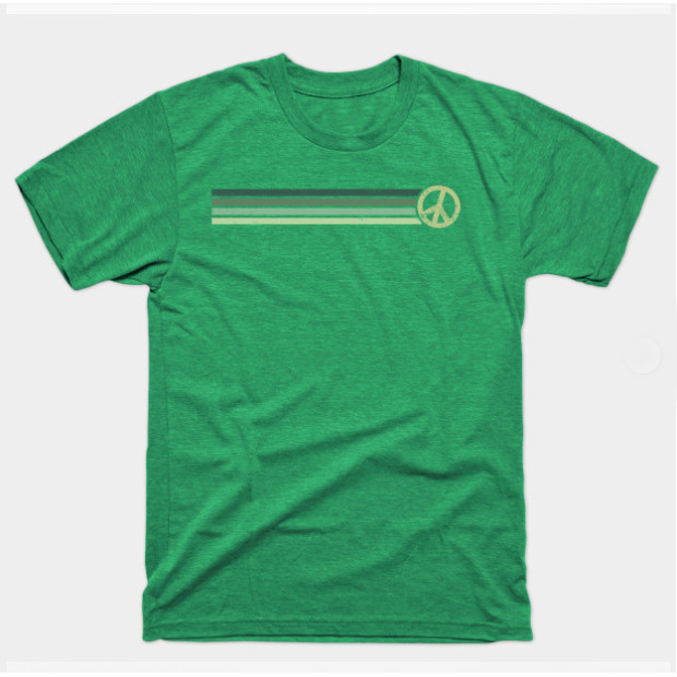 Retro Peace Stripes - Vintage Green Shirts & Gifts
