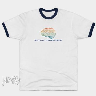Retro Computer brain t-shirt