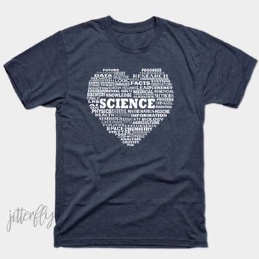 Science Heart Word Cloud