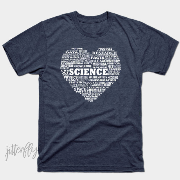 Science Heart Word Cloud