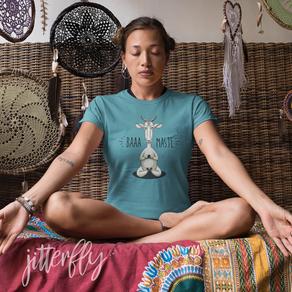 Baaa-maste Namaste Meditating Goat