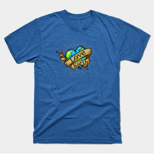 Love Earth Tattoo Earth t-shirt