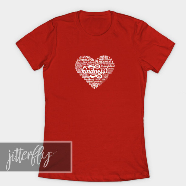 Heart Words of Kindess Shirt (Red)