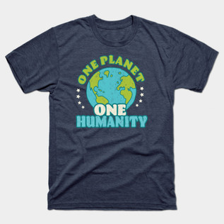 One Planet One Humanity Retro t-shirt.jp