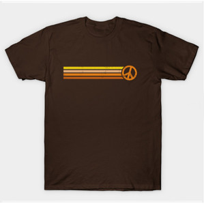 Retro Peace Stripes - 70s Sunset Shirts & Gifts