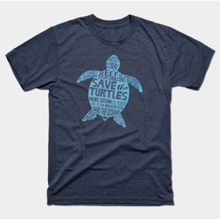 Save the Turtles - Blue Boho t-shirt