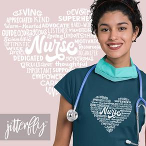 Heart Nurse Word Cloud