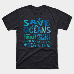 save the oceans whales turtles t-shirt.j