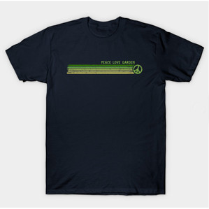 Peace Love Garden Retro Stripes Shirts & Gifts