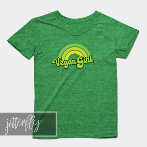 Vegan Girl Green Shirt