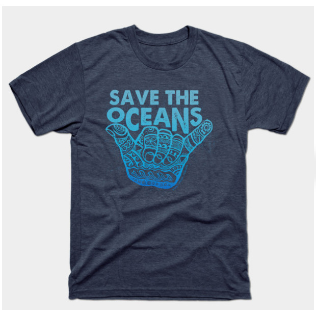 Save The Oceans Shaka t-shirt