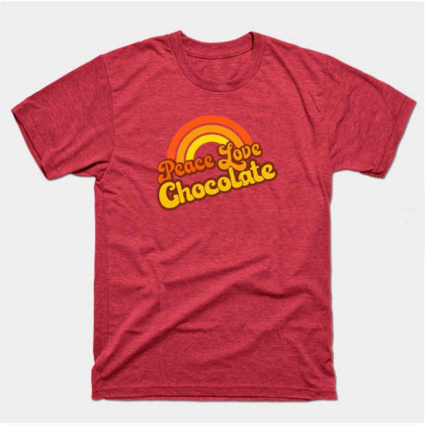 Retro Peace Love Chocolate Shirts & Gifts