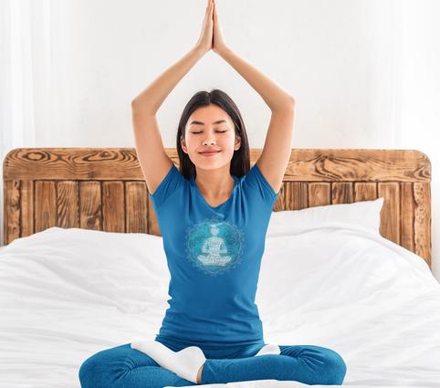 Yoga Woman Meditating Mandala