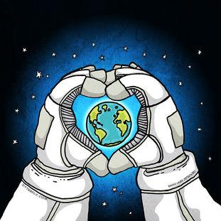 Astronaut Loves Earth