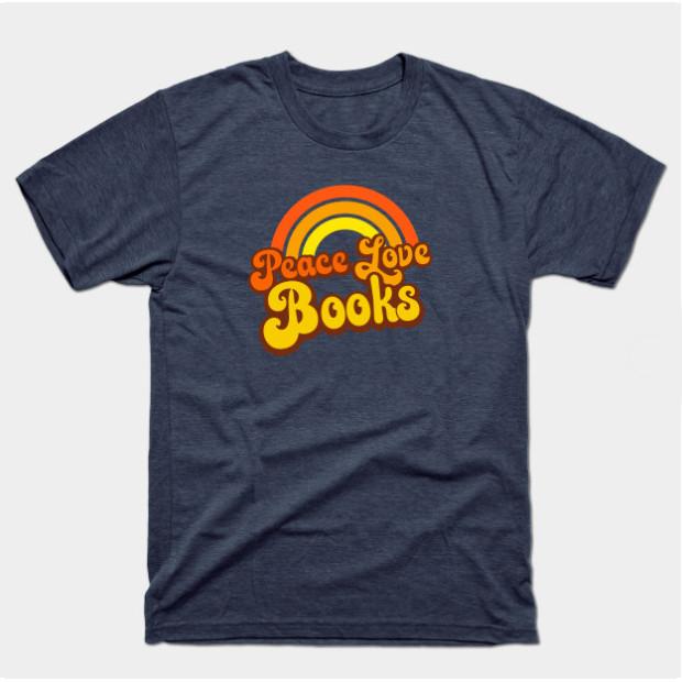 Retro Peace Love Books Shirts & Gifts