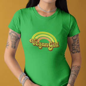 Vegan Girl Retro Rainbow