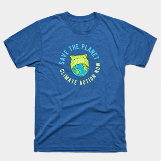 Green Cat Hat Earth - Save the Planet t-shirt