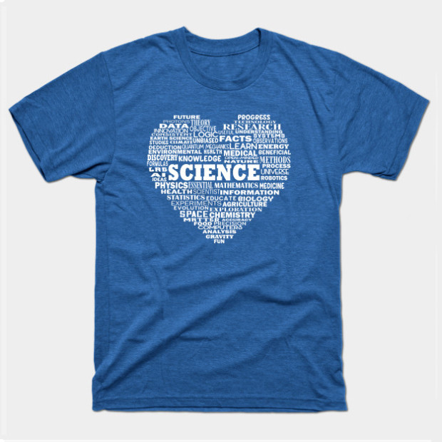 Science Heart Word Cloud White