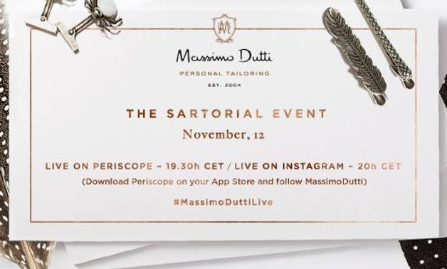 The Sartorial Event by Massimo Dutti