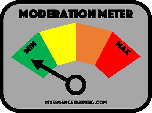 Moderation Meter PVC Patch
