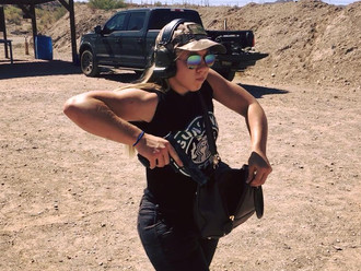 Weapon concealment options for women.