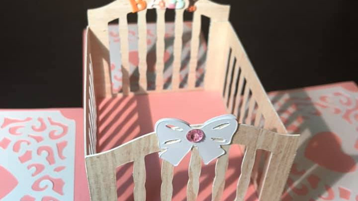 Crib Gift Box and Card in one