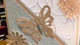 Butterfly Card or Wedding Invitation/Card