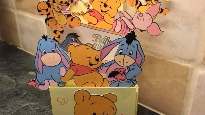 Pooh Box Card