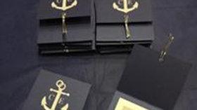 Navy style Wedding invitation sleeve