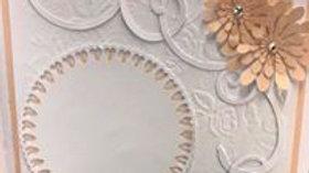 Peach and White Wedding invitation or card