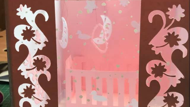 Baby Crib in a Box Card