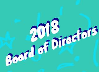 Welcome, 2018 Board Members!