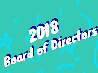 Welcome, 2018 Board Members!