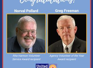 Congrats Norval Pollard and Greg Freeman on Receiving Awards!