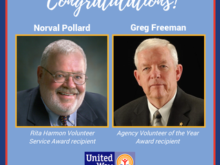 Congrats Norval Pollard and Greg Freeman on Receiving Awards!