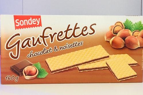 Gaufrettes - Chocolat & noisettes